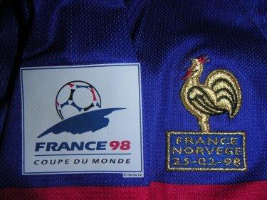MAILLOT EQUIPE DE FRANCE 1998 PIRES