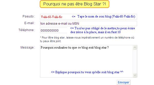 Pourquoi pas être blog star ?