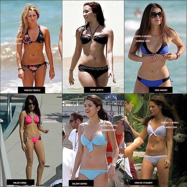 Spécial Bikini Star - La Quelles De Ses Stars Vous Preferez En Bikini ? A Vous De Voter !