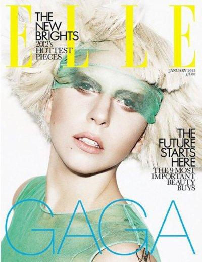 •Lady Gaga en couverture du magazine ELLE•