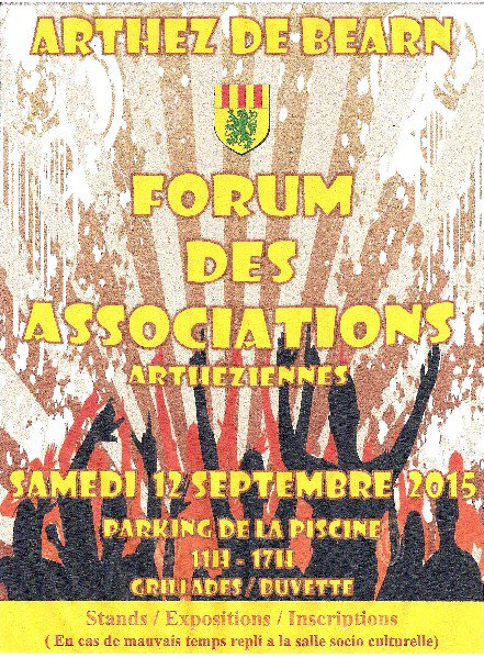 FORUM des ASSOCIATIONS D'ARTHEZ le samedi 12 Septembre 2015
