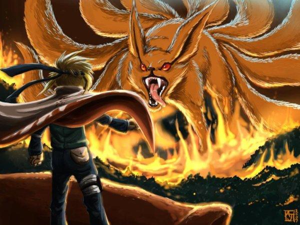 Kyuubi le demon renard a neuf queu blog de naruto dessin 42 - Coloriages naruto demon renard ...