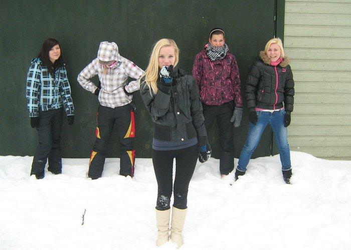 Les Spice Girl font du ski
