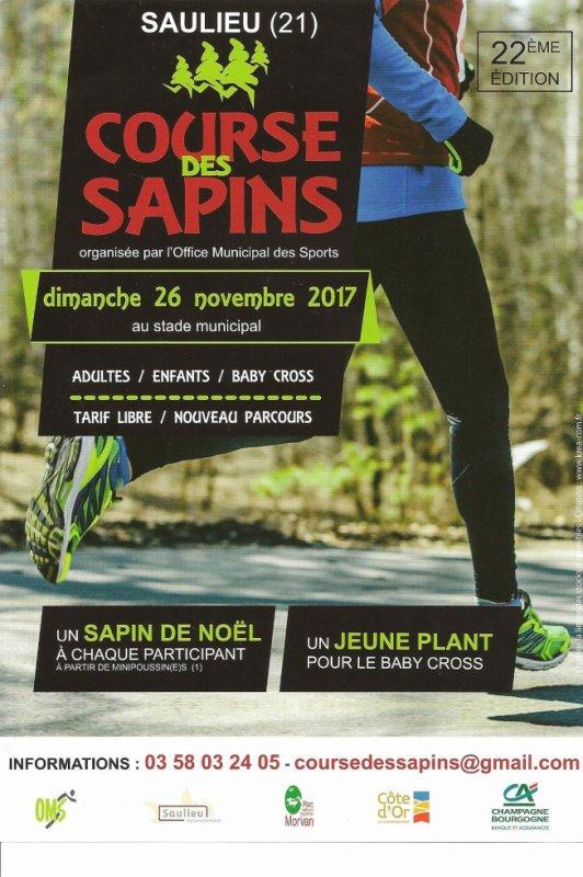 Saulieu: 26 novembre 2017; XXIIème Course des Sapins