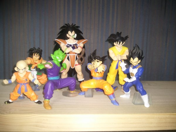 Mes figurines Dragon Ball Z HG 2 et 3
