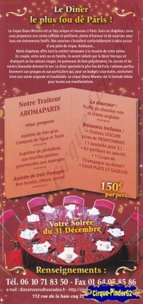 Flyer du Cirque Moreno Bormann (n°58)