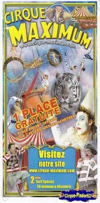 Flyer du Cirque Maximum-2011 (n°103)