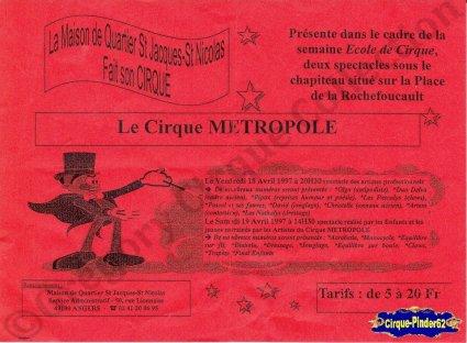 Flyer du Cirque Métropole-1997 (n°77)