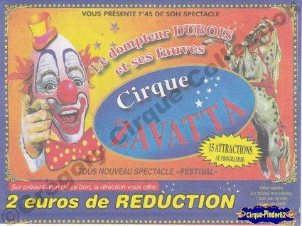 Flyer du Cirque Zavatta-2010 (n°16)