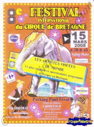 Flyer du Festival International du Cirque de Bretagne-2008 (n°76)