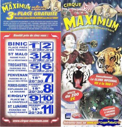 Flyer du Cirque Maximum-2009 (n°155)