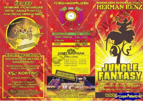 Flyer du Cirque Renz (Circus Herman Renz)-2010 (n°208)
