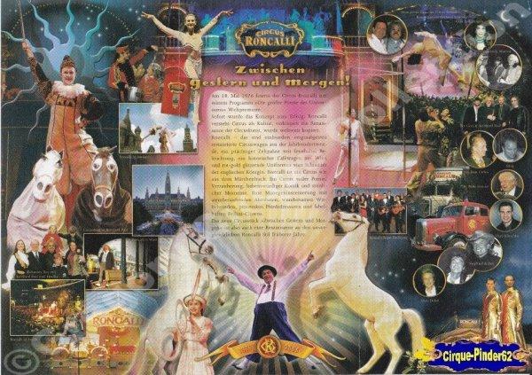 Flyer du Cirque Roncalli (Circus Roncalli)-2005 (n°207)