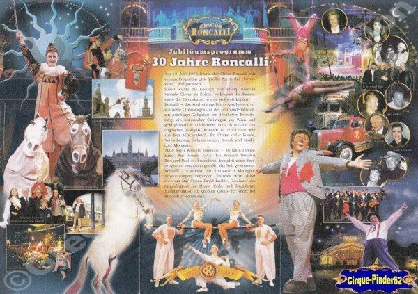 Flyer du Cirque Roncalli (Circus Roncalli)-2006 (n°206)