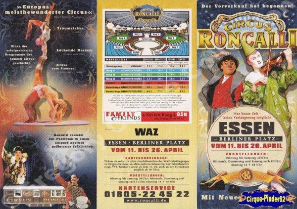 Flyer du Cirque Roncalli (Circus Roncalli)-2008 (n°204)
