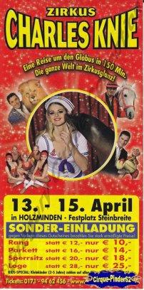 Flyer du Cirque Knie (Charles)-2010 (n°176)