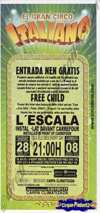 Flyer du El Gran Circo Italiano-2010 (n°198)