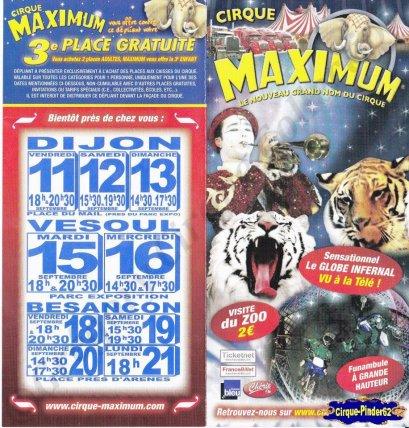 Flyer du Cirque Maximum-2009 (n°254)