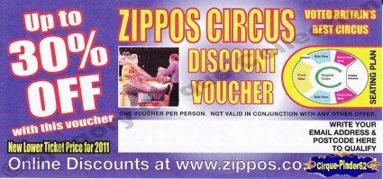 Flyer du Zippos Circus-2011 (n°235)