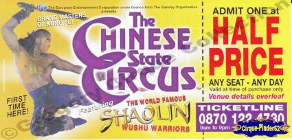 "Flyer du ""The Chinese State Circus""-2005 (n°231)"