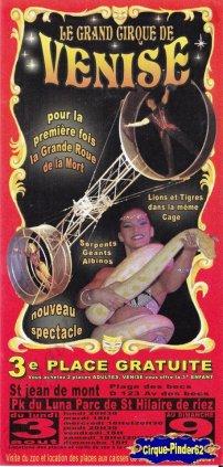 Flyer du Cirque de Venise (n°294)