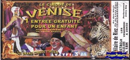 Flyer du Cirque de Venise-2010 (n°299)