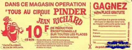 Flyer du Cirque Pinder-198- (n°307)