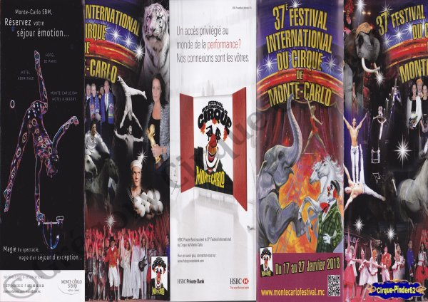 Flyer du Festival International du Cirque de Monté-Carlo-2013 (n°288)