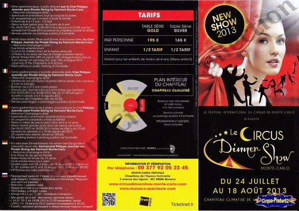 Flyer du Circus Dinner Show-2013 (n°319)