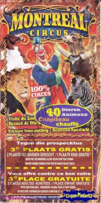 Flyer du Montreal Circus (n°374)