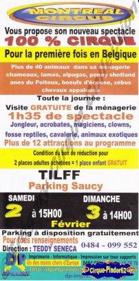 Flyer du Montreal Circus (n°374)