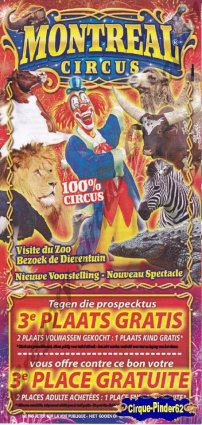 Flyer du Montreal Circus (n°378)