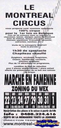 Flyer du Montreal Circus (n°378)