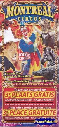 Flyer du Montreal Circus (n°377)