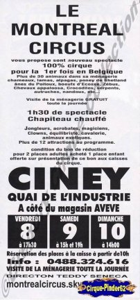 Flyer du Montreal Circus (n°377)