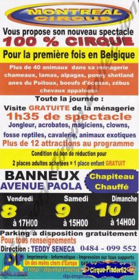 Flyer du Montreal Circus (n°375)