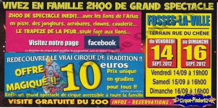 Flyer du Cirque Franco Canadien-2012 (n°387)