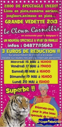 Flyer du Festival Circus Show-2013 (n°395)
