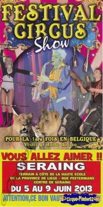 Flyer du Festival Circus Show-2013 (n°393)