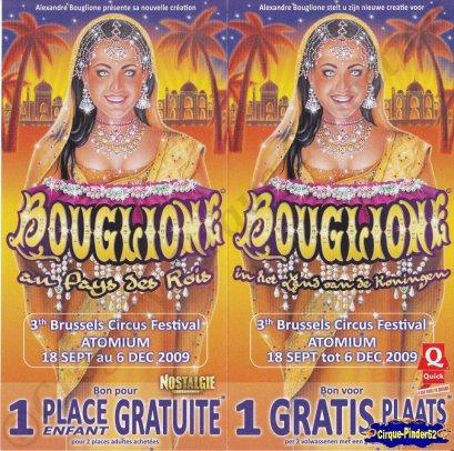 Flyer du Cirque Bouglione (Alexandre)-2009 (n°404)