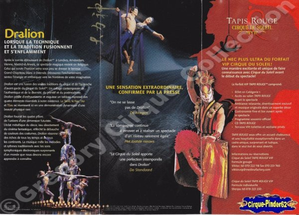 Flyer du Cirque du Soleil-2005 (n°408)