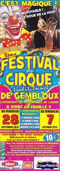 Flyer du Festival du Cirque de Gembloux-2012 (n°411)