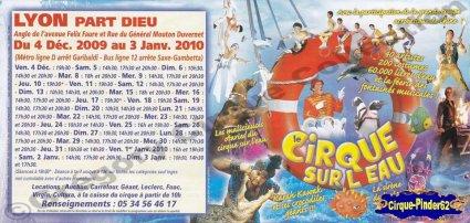 Flyer du Grand Cirque sur l'Eau-2009/2010 (n°429)