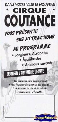 Flyer du Cirque Coutance (n°430)
