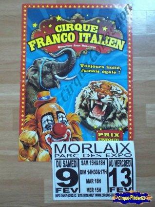 Affiche magasins du Cirque Franco Italien (n°204)