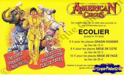 Flyer de l'American Circus-2003 (n°565)