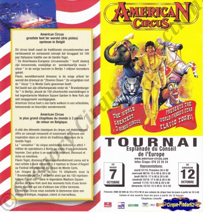 Flyer de l'American Circus-2003 (n°571)
