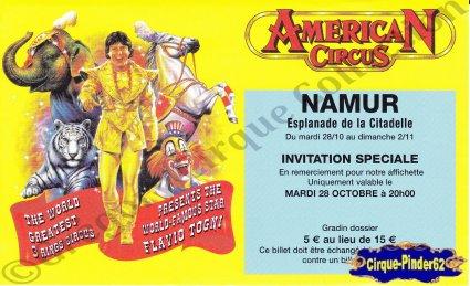 Flyer de l'American Circus-2003 (n°566)