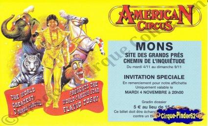 Flyer de l'American Circus-2003 (n°567)