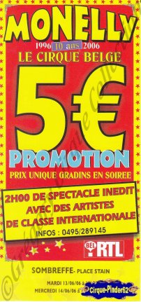 Flyer du Circus Monelly-2006 (n°554)